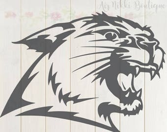 Wildcat side of head, Cat SVG, PNG, DXF files, instant download