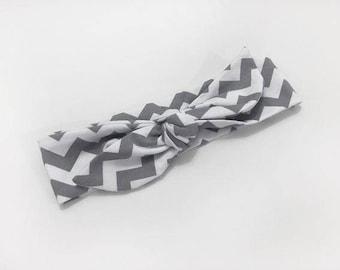 Chevron Grey Notty Headband