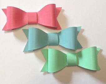 Leather Bow | Faux Leather Bow | Pastel Bow | Back to School | Mint Bow | Handmade Fabric Hair Clip | Headband Bows