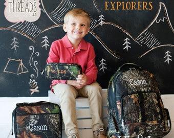 School Bag, Monogram Backpack, Custom Backpack, Camo Backpack, Boy's Backpack, Monogrammed Lunchbox, Personalized Backpack