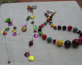 Lot Of Retro Colorful  Necklaces Repair Repurpose