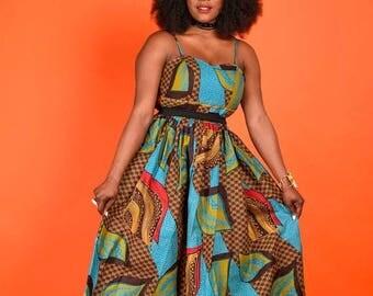 SALE Maira Maxi Padded- Bustier Dress