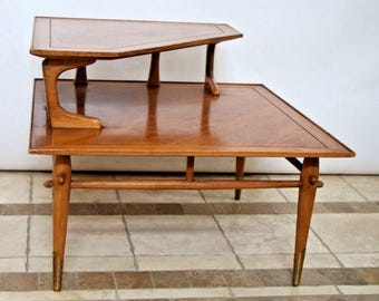 Rare Mid Century Danish Modern Side Corner Step Table Lane Alta Vista No. 550121 Nationwide shipping available please call for best rates