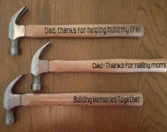 Customized novelty hammer-prefect for Father's Day!!