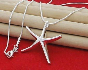 Starfish Necklace, Starfish Jewelry, Silver Starfish Necklace, Silver Starfish Jewelry, Fish Necklace, Star Fish Jewelry, Sea startfish, UK