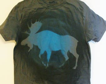Blue and Grey Moose Tee