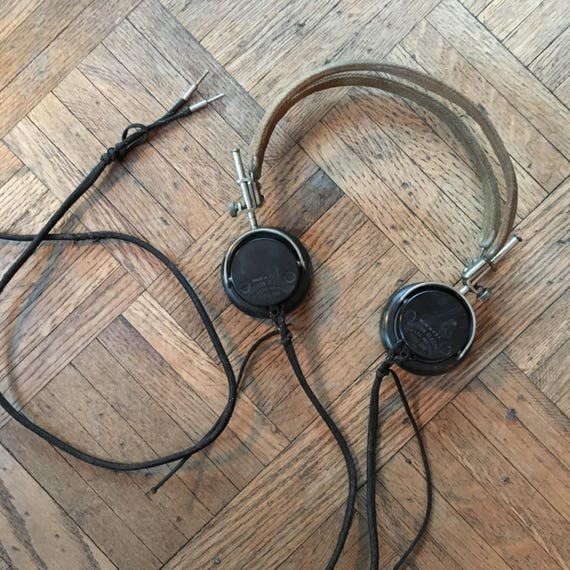 Vintage Headphones, 1918 Western Electric Headphones, Personal Radio Headphones, Vintage Headset