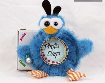 Plush camera lens, penguin, colorful and funny