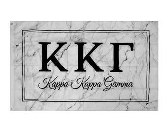 Kappa Kappa Gamma KKG Marble Box Sorority Flag 3' x 5' kkg