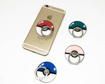 Pokemon poke ball phone ring holder, phone stand, phone ring kickstand, universal finger ring holder, pokeball