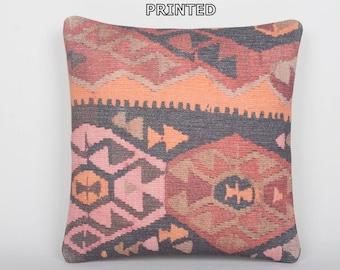 20x20 kilim pillow 20x20 large decorative pillow giant pillow cover handwoven pillow large throw pillow extra large pillow orange rugs 40-50