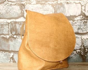 Christmasinjuly Backpack, handbag, crossbody bag, shoulder bag 4 in 1, eco leather, vegan leather, faux leather