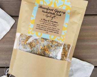 Herbal Bath Soak - Uplift -Bath Salts - Spa & Relaxation - Natural Bath - Tea Bath