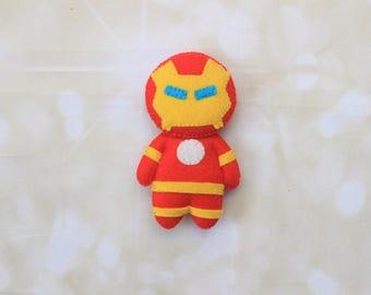 Iron Man plush Marvel superhero superhero plush Iron man doll Avengers felt doll Superhero doll Tony Stark superhero mobile superhero toy