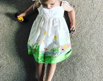 Crafty Pear Summer time gathered dress