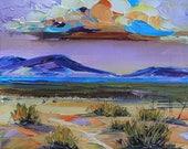 Desert Painting, Death Valley, California Art, Panamint Mountains, California Artwork, Original Oil, California Painting, Landscape Painting