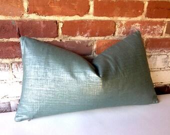 Metallic Linen Seafoam Decorative Pillow + More Colors // Seafoam Green Pillow // Seafoam Throw Pillows // 345Y
