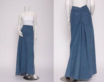 denim maxi skirt  vintage 1990s • Revival Vintage Boutique