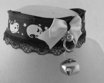 Halloween kawaii ghostie kitten play collar *tug proof*