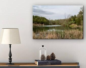 Canvas Landscape Art - Landscape Photo - Missouri Photography - Canvas Print - Lake House Wall Decor - Nature Canvas - Lake House Wall Art