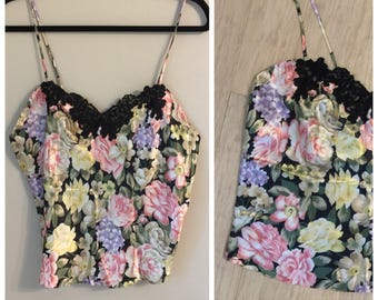 Vintage 90's Victoria's Secret floral Camisole Large