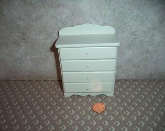 1:12 scal Dollhouse Miniature White Dresser for Nursery or Bedroom