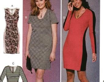 McCall's Pattern 7652 KNIT PANELED DRESSES Women's Sizes 18W 20W 22W 24W