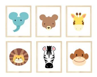 Nursery Wall Art, Nursery Animal Wall Art, Zoo Animals, Zoo animal nursery