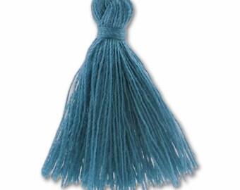 30mm blue DENIM cotton tassel