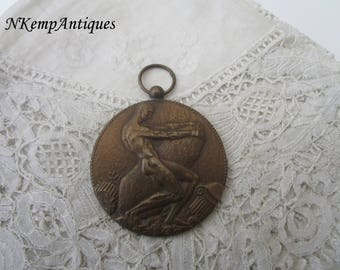 Art deco medal 1920's signed