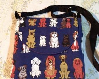 Slim Cross body Dog Walking Bag PDF sewing pattern Dog ...  Dog Walking Bag Cross Body