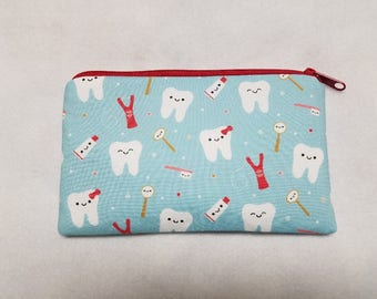 Hygienist Zipper Pouch, Toothbrush Pouch, First Aid Kit Bag, Medication Bag, Hygienist Pencil Case, Gadget Bag, Cosmetic Bag, Nylon Liner.