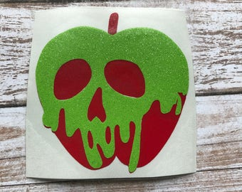 Poison Apple Vinyl Decal Car Laptop Wine Glass Sticker
