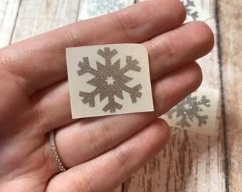 Snowflake Frozen Winter Vinyl Decal Car Laptop Wine Glass Sticker