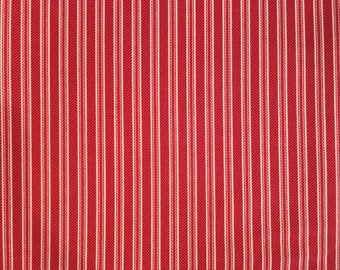Red and white striped fabric - red Michael Miller fabric