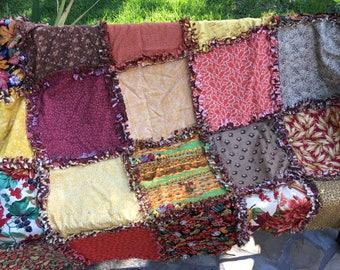 Rag quilt kit - autumn rag quilt kit - fall rag quilt kit - rag quilt DIY