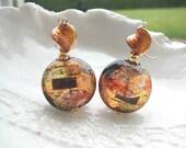 Boucles d'oreilles verre de Murano Klimt
