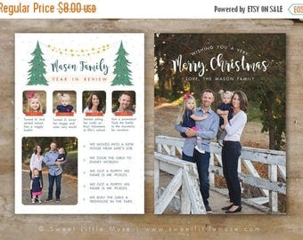ON SALE Year in Review Card Template - Christmas card template - Holiday card template