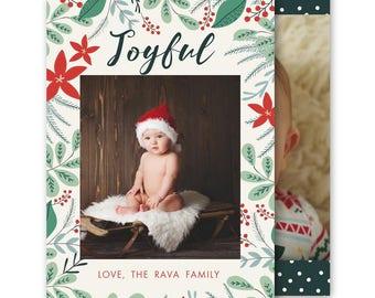 Holiday card template, Christmas Card Template, Christmas Cards