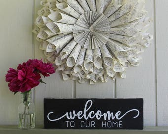 Welcome To Our Home Sign, Welcome To Our Home, Home Sign, Home, Entryway Sign, Entryway Decor, Welcome Sign, Welcome, Housewarming Gift