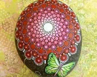 Butterfly Mandala Stone (Large)
