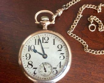 1907 Waltham Gold Pocket Watch