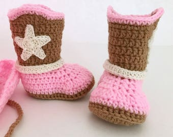 Cowgirl boots, baby shoes , baby cowboy boots, baby gift