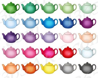 50% OFF Teapot Clipart, Teapot Clip Art, Tea Pots, Tea Time, Party Invitations, Planner Sticker Icon, Digital Graphics, PNG, Commercial