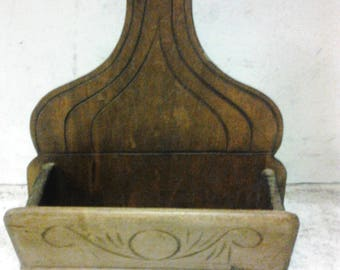 Wooden comb and brush holder
