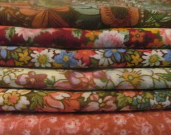 QUILTING COTTON FABRIC Country Floral Bundle of 6 Fat Quarters  #5