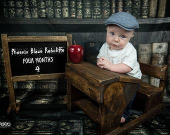 READY TO SHIP*see details! School Desk and Chalkboard prop set Newborn -1 year baby photography newborn vintage prop