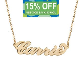 18k gold Plated Carrie style necklace celibrity inspired pendant made with 925 silver