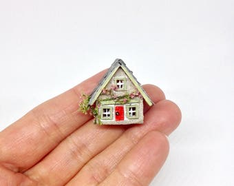 Miniature Micro Tiny Fully Furnished Cottage House for 24th or 12th Dollhouse Baby Nursery Room Toy or 1:48 48th 1/48 Wendy House ?