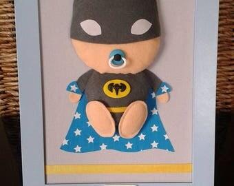 TO order: Painting Original customizable child Super Heroes - BB Bat